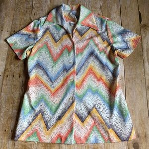 Vintage Polyester Louis Chaney Top